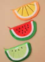Fruit slice zip up purse (Code 4261)